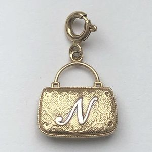 Jewelry - 14K Yellow Gold Initial N Purse pendant/ charm